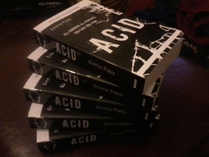 The proof jacket for ACID is great! From http://emmapass.blogspot.co.uk/