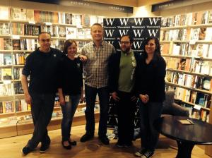 Booksellers and Patrick. What a team.